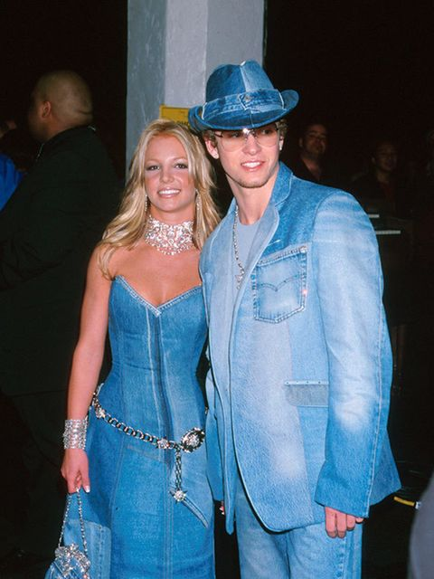 Justin Timberlake and Britney Spears at the American Music Awards, 2001
