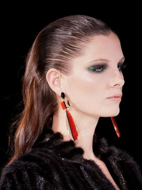 "<p>Pat McGrath has actually made me drool with delight at the beauty of this super-smoke at <a href=""http://www.elleuk.com/catwalk/designer-a-z/versace/couture-ss-2013"">Versace</a>. The neon green shock lifts an otherwise ordinary (albeit very elegant) du"