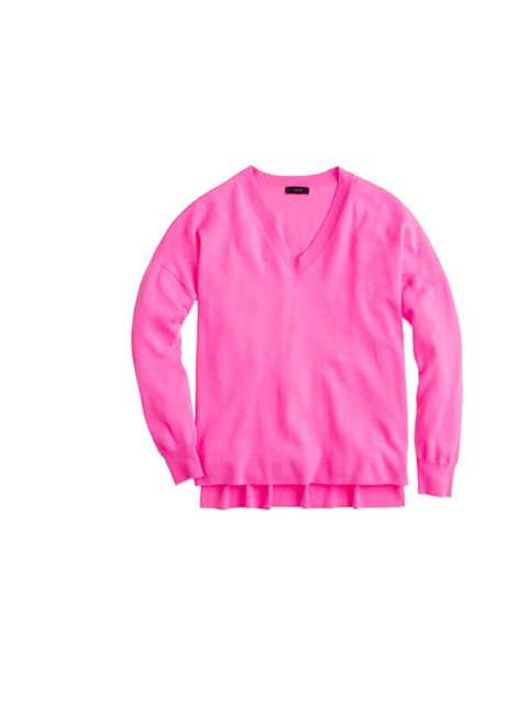 "<p>J. Crew pink neon merino wool sweater, £73.20</p><p><a href=""http://shopping.elleuk.com/browse?fts=j+crew+merino+neon"">BUY NOW</a></p>"