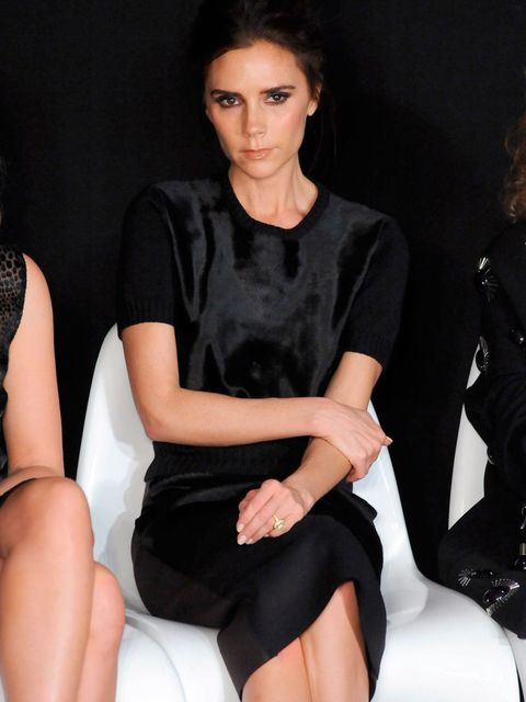 <p>Victoria Beckham at the Woolmark prize show</p>
