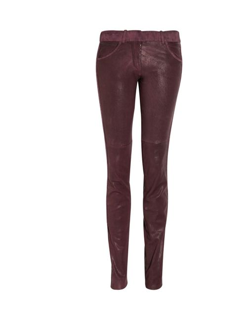 """<p>Isabel Marant skinny leather trousers, was £1595 now £797.50, at <a href=""""http://www.theoutnet.com/"""">The Outnet</a></p>"""