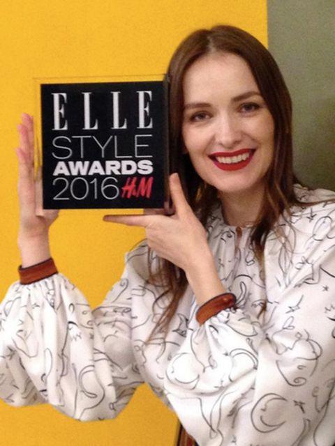 'THANK YOU @elleuk#ElleStyleAwards for this wonderful honour#DesignerOfTheYear !'