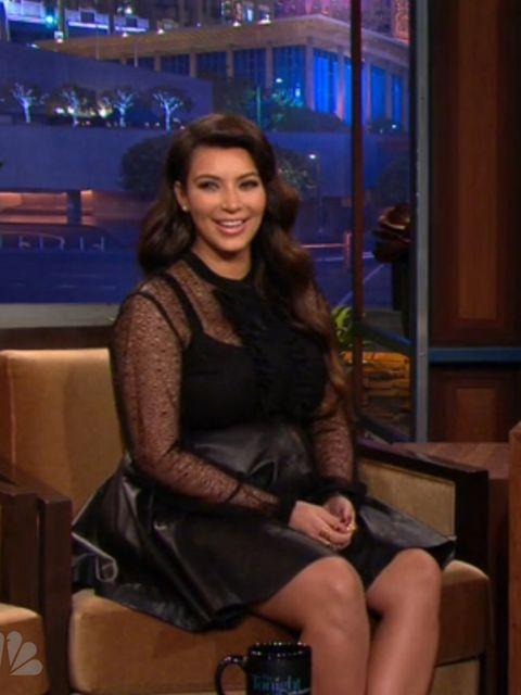 <p>Kim Kardashian on The Tonight Show with Jay Leno</p>