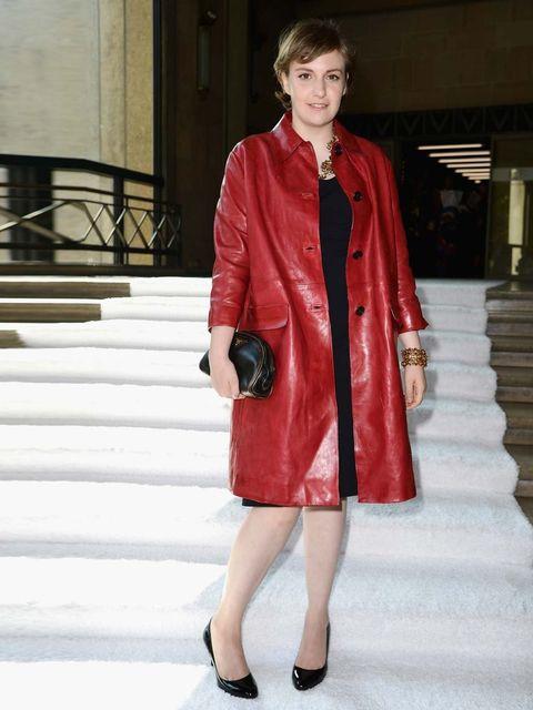 "<p>Lena Dunham at the <a href=""http://www.elleuk.com/catwalk/designer-a-z/miu-miu/spring-summer-2014/collection"">Miu Miu</a> SS14 show during Paris Fashion Week.</p><p><a href=""http://www.elleuk.com/star-style/red-carpet/front-row-at-milan-fashion-week-ce"
