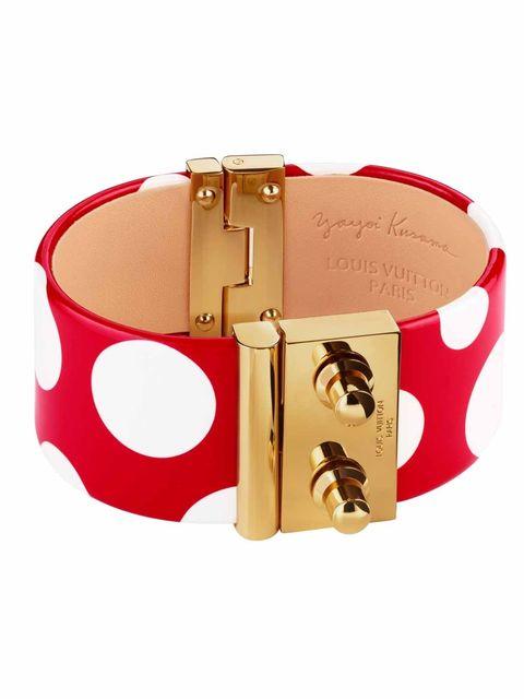 <p>Yayoi Kusama cuff by Louis VuittonYayoi Kusama dotty cuff by Louis Vuitton £690 </p>