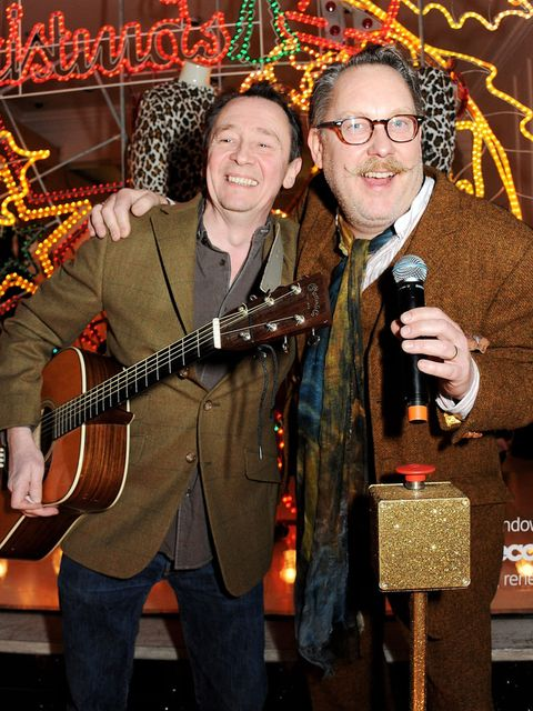 <p>Paul Whitehouse and Vic Reeves entertain the crowds</p>