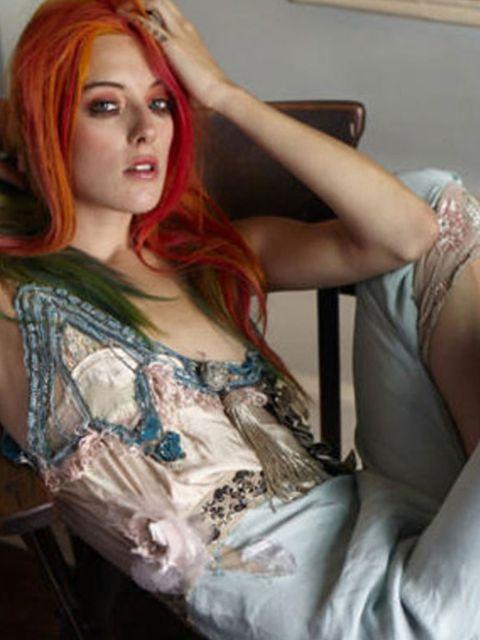 <p>Chloe Norgaard modelling Courtney Love's new line</p>