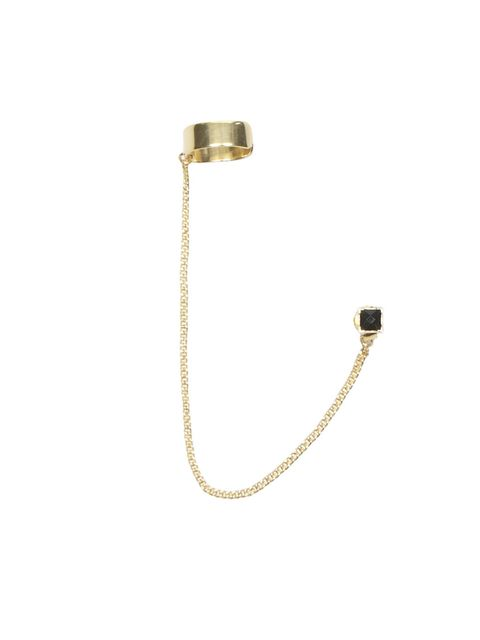 "<p>Slick, tough-look gold jewellery is the jewellery trend of the season with ear cuffs having a major moment on (and now off) the catwalk… <a href=""http://www.allsaints.com/women/new/"">AllSaints</a> gold ear cuff, £15</p>"