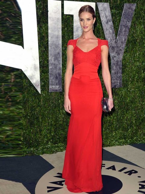 <p>ELLE cover girl Rosie Huntington-Whiteley at the Vanity Fair party, LA.</p>