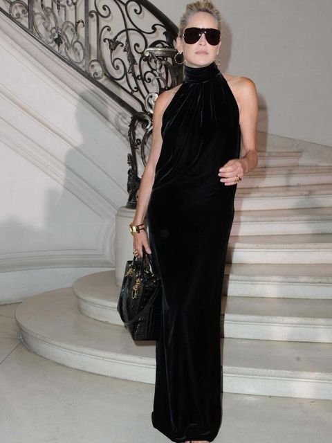 <p>Sharon Stone at Christian Dior Couture AW12</p>
