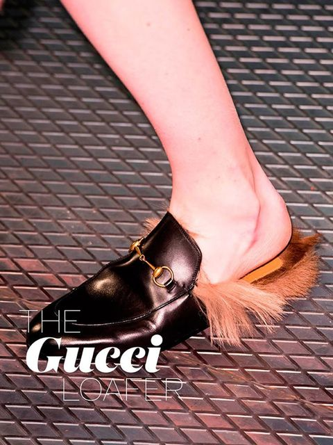 "<p>The <a href=""http://www.elleuk.com/fashion/news/gucci-aw-2015-catwalk-show-review-milan-fashion-week"" target=""_blank"">Gucci</a> loafer &ndash; Not the clog or the furry dog one. This sleek, flat mule sprouting fur is the one we want from Gucci.&nbsp;</"