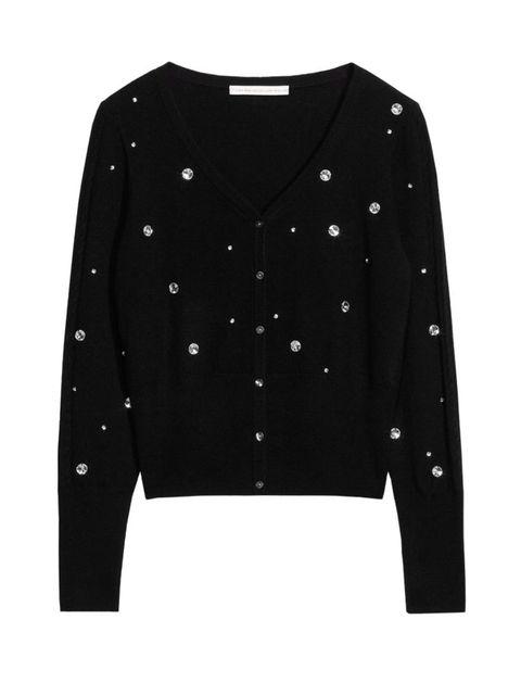 <p>Black cardigan, £105</p>