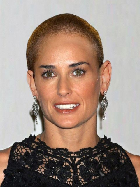 "<p><a href=""http://www.elleuk.com/star-style/celebrity-style-files/demi-moore"">Demi Moore</a> famously shaved her head for her role as a marine in G.I Jane in 1997</p>"