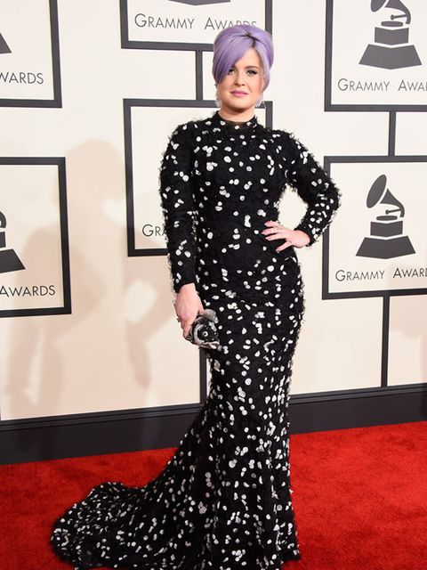 <p>Kelly Osbourne, in Christian Siriano, attends the 57th Annual Grammy Awards in LA.</p>