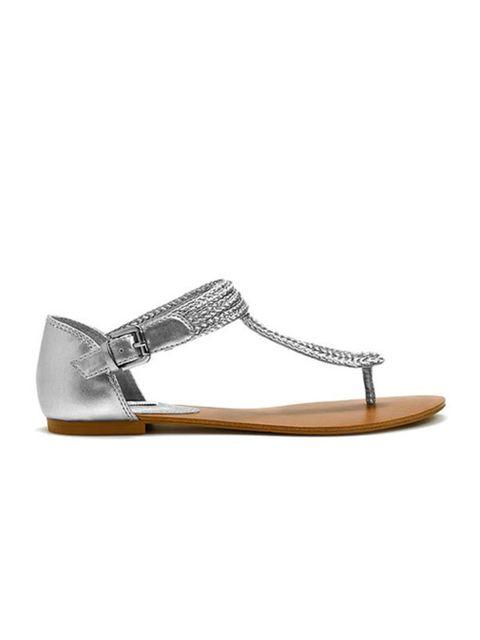 "<p><a href=""http://www.zara.com/webapp/wcs/stores/servlet/product/uk/en/zara-S2011-s/101682/467054/WOVEN%2BTHONG%2BSANDAL"">Zara</a> metallic toe-post sandal, £19.99</p>"