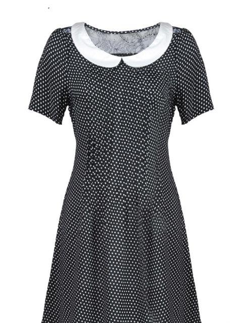 "<p><a href=""http://www.pretaportobello.com/shop/dresses/dresses/ppb-polka-dot-peter-pan-tunic.aspx"">Pretaportobello</a> polka dot dress, £39</p>"