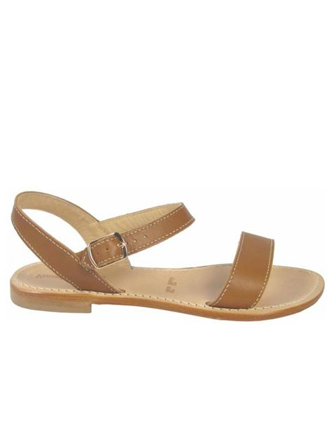 """<p><a href=""""http://www.russellandbromley.co.uk/"""">Russell & Bromley</a> tan leather sandals, £69 </p>"""