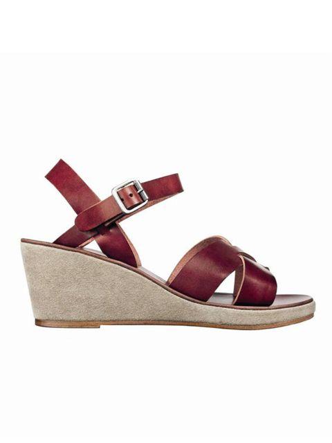 "<p><a href=""http://www.apc.fr/"">A.P.C.</a> wedge sandals, £260</p>"