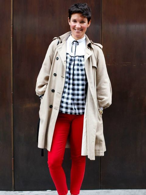 <p>Photo by Silvia Olsen @ Anthea Simms.Beckie, 31, Marketing Manager. Hobbs trench, Primark jeans, H&M shirt</p>