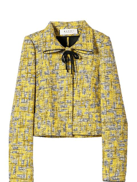 "<p><a href=""http://www.marni.com/item/store/MARNI/tskay/B84CE7A2/rr/1/cod10/41223561IT/areaid//sts/"">Marni</a> cropped tweed jacket, £535</p>"