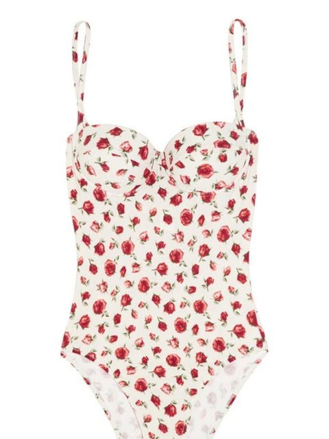 "<p>Rosamosario floral swimsuit, £220, at <a href=""http://www.net-a-porter.com/Shop/Designers/Rosamosario/All"">Net-a-Porter</a></p>"