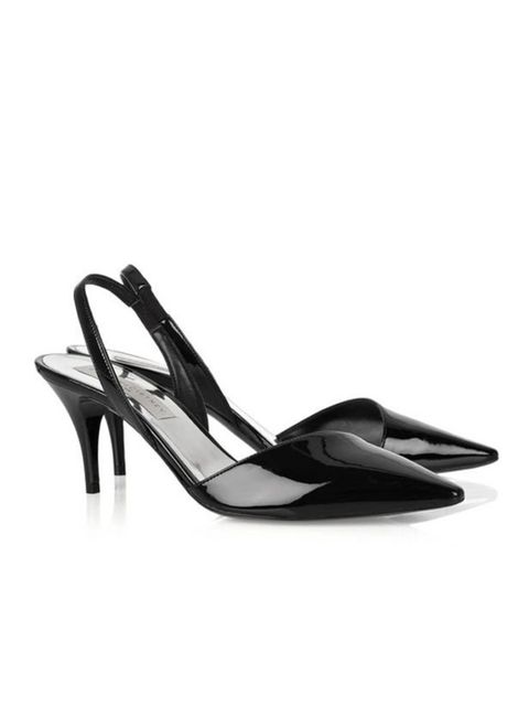 "<p>Stella McCartney patent leather sling-backs, £365, at <a href=""http://www.net-a-porter.com/product/165452"">Net-a-Porter</a></p>"