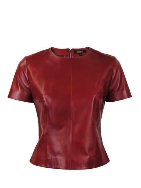 """<p>Luxe leather separates show no sign of waning so tap into autumn's 40s colour palette with this new T-shirt form Desa… <a href=""""http://www.desa.uk.com/p-2092-minerva-leather-t-shirt.aspx"""">Desa</a> leather T-shirt, £229</p>"""