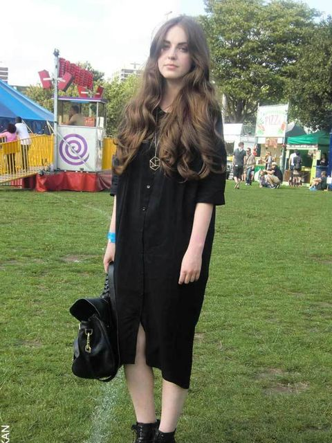 <p>Sam, 24, Marketing Assistant at Paul Smith. Twist &amp&#x3B; Tango dress, Kurt Geiger shoes, Mulberry bag, Paul Smith necklace.</p>