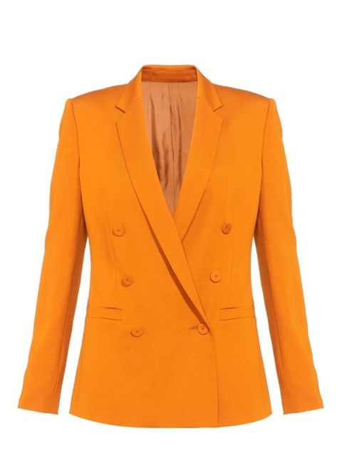 "<p>Never underestimate the power of a good jacket. With the help of a Savile Row tailor, Whistles has created the perfect power blazer… <a href=""http://www.whistles.co.uk/fcp/categorylist/dept/shop?resetFilters=true"">Whistles</a> orange blazer, £195</p>"