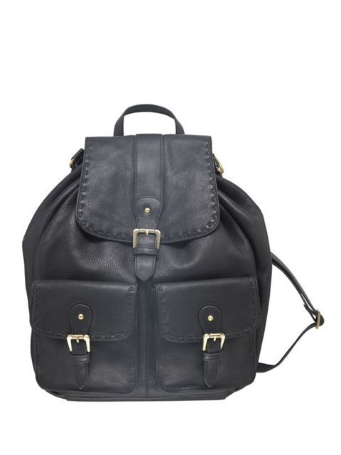 """<p>Master cool-girl style whilst revving up your off-duty attire with this luxe leather rucksack… <a href=""""http://www.lauraashley.com/bags+purses/black-leather-rucksack-bag/invt/bg017/"""">Laura Ashley</a> leather rucksack, £100</p>"""