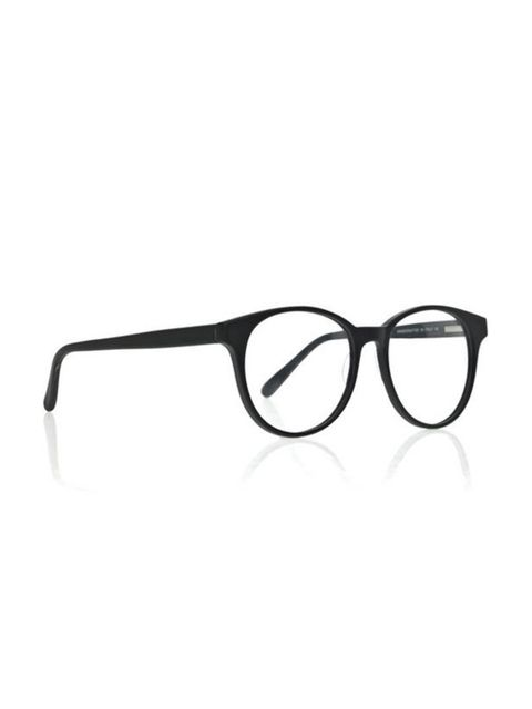 "<p><a href=""http://shop.prismlondon.com/collections/optical-glasses/products/rio-matte-black-optical-glasses"">Prism</a> 'Rio' matt black round frame acetate optical glasses, £210</p>"