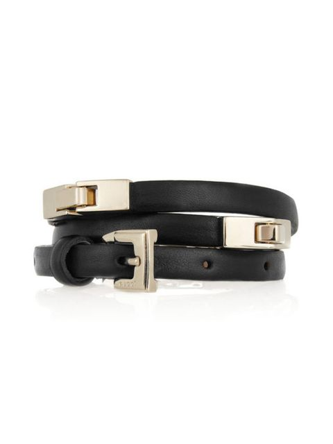 "<p>Gucci skinny linked leather belt, £365, at <a href=""http://www.net-a-porter.com/product/169661"">Net-a-Porter</a></p>"