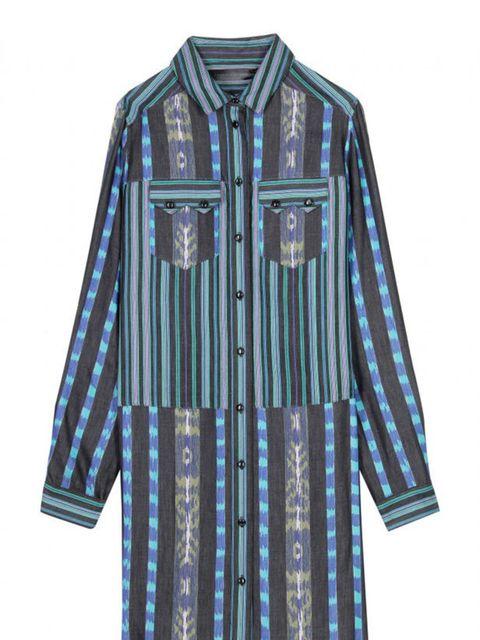 "<p>Proenza Schouler shirt dress with Ikat print, £659, at <a href=""http://www.mytheresa.com/uk_en/shirt-dress-with-ikat-print.html"">mytheresa.com</a></p>"