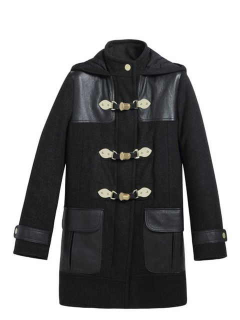 """<p><a href=""""http://www.mulberry.com/"""">Mulberry</a> 'Polly' push-lock duffle coat, £1,100</p>"""