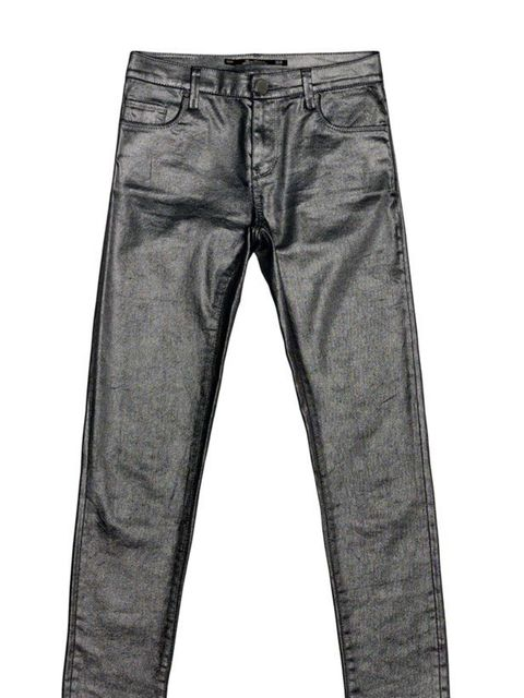 "<p><a href=""http://www.zara.com/webapp/wcs/stores/servlet/product/uk/en/zara-W2011/122013/387542/METALLIC%2BTROUSERS"">Zara</a> metallic trousers, £39.99</p>"