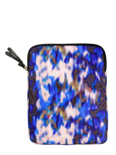 "<p><a href=""http://www.kurtgeiger.com/women/accessories/eclair-ipad-cover.html"">Kurt Geiger</a> printed iPad case, £45</p>"