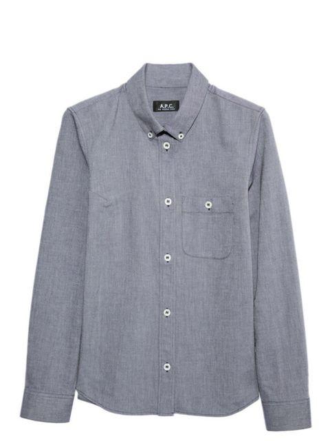"""<p>A.P.C. cotton shirt, £125, at <a href=""""http://www.net-a-porter.com/product/164430"""">Net-a-Porter </a></p>"""