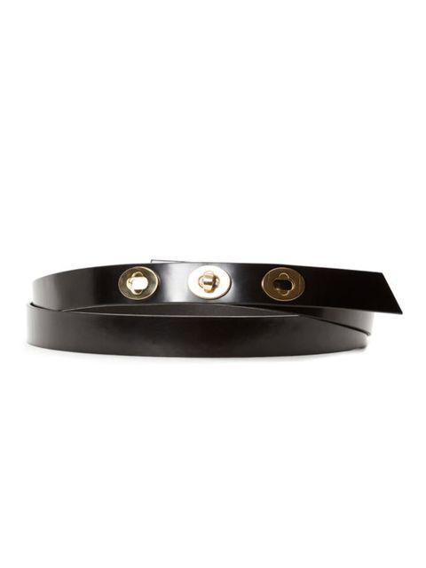 "<p><a href=""http://www.viktor-rolf.com/index.htm"">Viktor & Rolf</a> skinny belt, £135</p>"