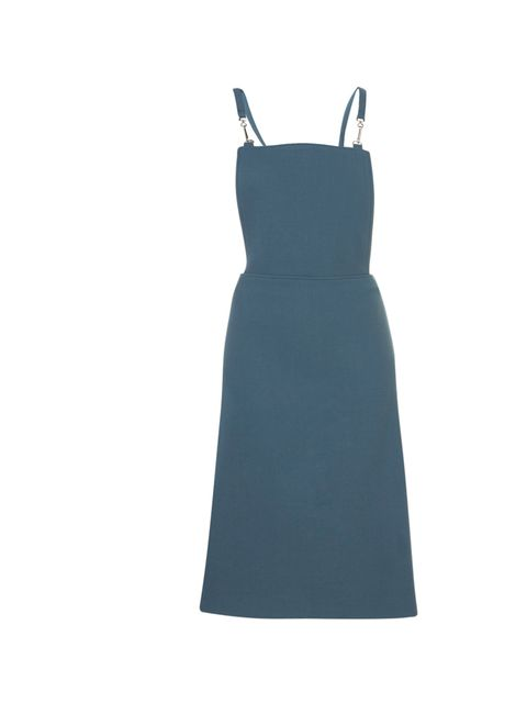 "<p>Topshop Boutique teal pinafore dess, £65</p><p><a href=""http://shopping.elleuk.com/browse?fts=topshop+boutique+teal+dress"">BUY NOW </a></p>"