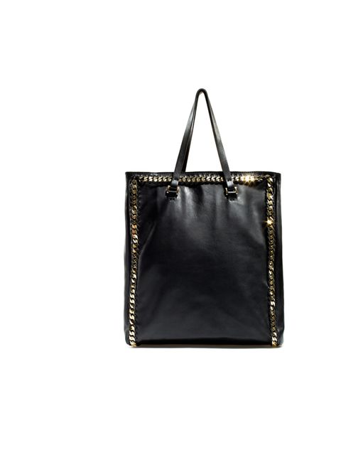 "<p><a href=""http://www.zara.com/webapp/wcs/stores/servlet/category/uk/en/zara-W2012/269200/Handbags"">Zara</a> studded leather tote, £69.99</p>"