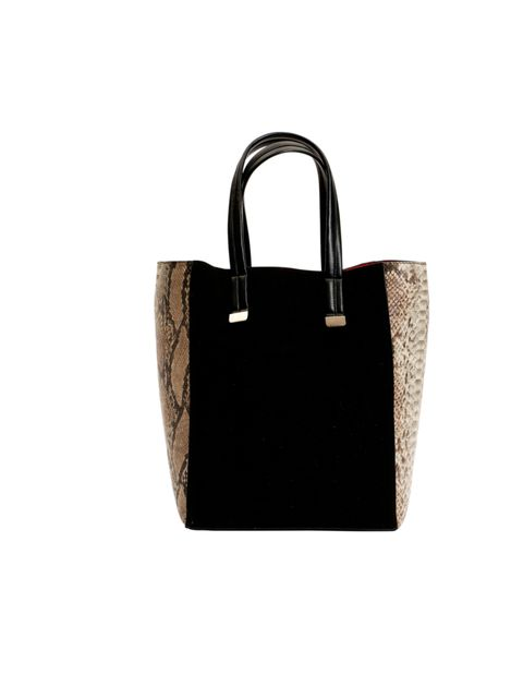 "<p><a href=""http://www.next.co.uk/x505368s1"">Next</a> black and snake skin tote bag, £26</p>"