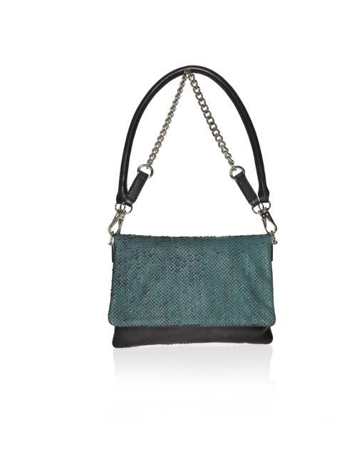 """<p><a href=""""http://www.kurtgeiger.com/women/accessories/bags.html?limit=all"""">KG Kurt Geiger</a> 'Sherbet Jazz' handbag, £120</p>"""