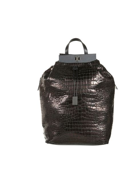"<p>Topshop Unique textured leather backpack, £400</p><p><a href=""http://shopping.elleuk.com/browse?fts=topshop+unique+backpack"">BUY NOW</a></p>"