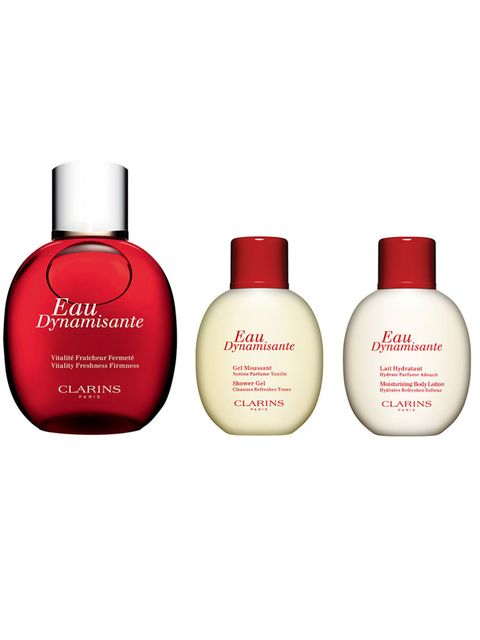 "<p><strong><a href=""http://www.clarins.co.uk/eau-dynamisante-kit/0257287.html?start=7"">Clarins Eau Dynamisante Collection, £32.00</a></strong></p><p>Citrus is known to be invigorating, and Clarins gift sets are known to be extremely pleasing. Perfect comb"