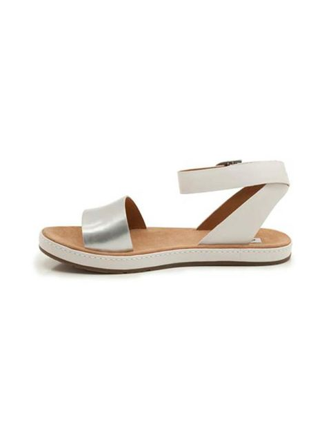 """<p>If full on metallic is not your thing use it as a highlight instead. </p><p>Sandals £49.99 by <a href=""""http://www.clarks.co.uk/p/20358696"""">Clarks</a> </p>"""