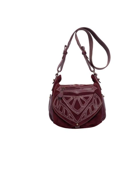 <p>Isabel Marant embroidered bag, £630, Available from Selfridges, for stockists call 0800 123 400</p>