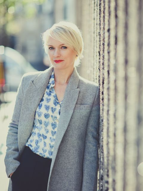 Lorraine Candy – Editor in Chief  Freda coat, Red Valentino shirt.