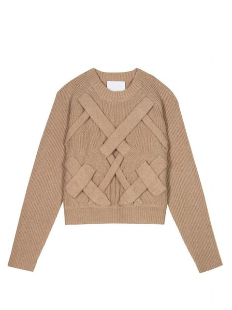 "<p>3.1 Phillip Lim cable knit jumper, £449, at <a href=""http://www.mytheresa.com/uk_en/3d-cable-knit-pullover-114034.html"">mytheresa.com</a></p>"