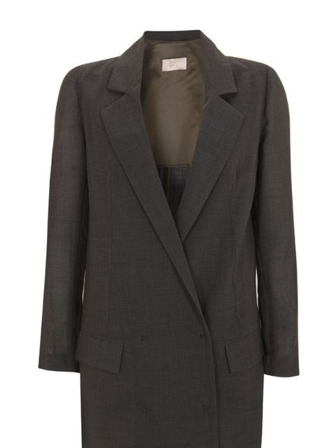 <p>Topshop longline blazer, £55, for stockists call 0844 984 0264</p>