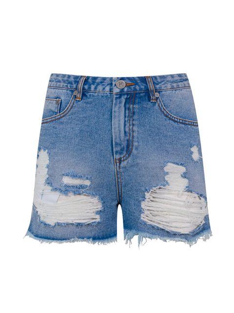Denim shorts, £30